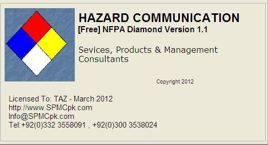 spmcpk com hazard communication by nfpa diamond nfpa 704